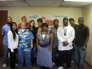 The Bridges to Careers cohort in February 2013.